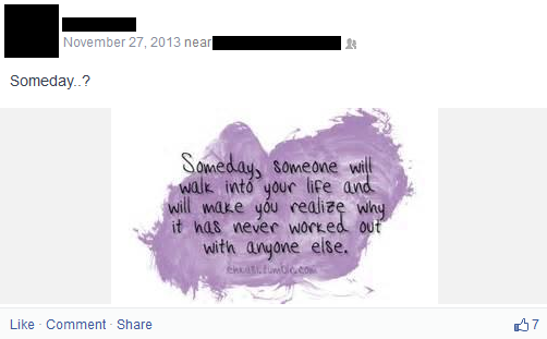 sad facebook post after your breakup