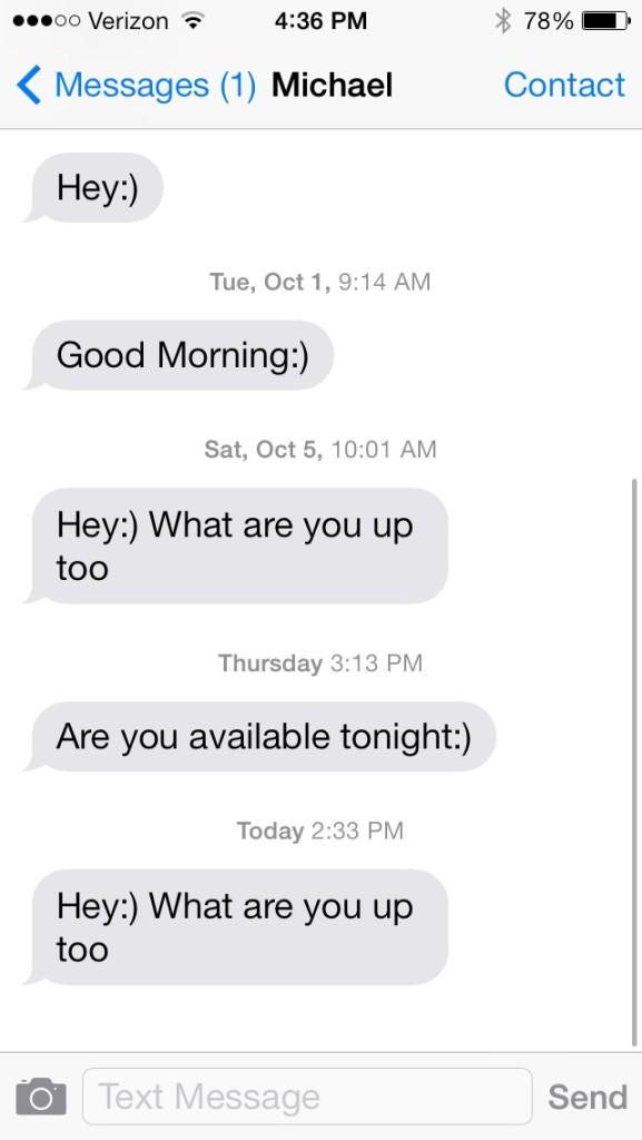 generic texting to ex boyfriend